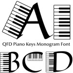 qfd piano keys monogram font