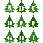 christmas tree alphabet a-i