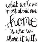 what we love most about our home is who we share it with