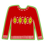 ugly argyle christmas sweater