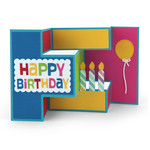 tri-shutter card birthday