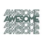 'awesome' outline words