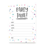fill in kids birthday party invitation