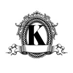 framed k monogram