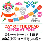 day of the dead dingbat font