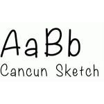 cancun sketch font