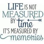 life is not measured by time phrase