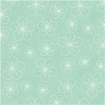 happy teal floral pattern