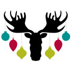 moose head with ornaments