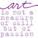art is not a measure