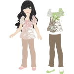 outfit for lizzy paper doll