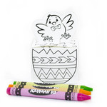 easter chick coloring box
