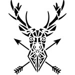 tribal reindeer arrow head