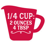 measurement conversion 1/4 cup