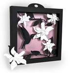 3d hummingbird shadow box