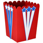 stars & stripes popcorn treat box