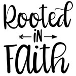 rooted in faith arrow quote