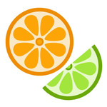 citrus wedge and slice