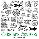 christmas crackers dingbat font