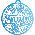 christmas snowflake bauble decoration