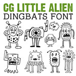 cg little alien dingbats