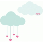 heart drop clouds