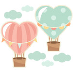 heart hot air balloons
