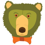 scruffy bear: green