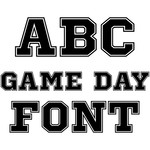 game day font
