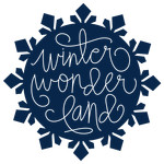 winter wonderland snowflake phrase