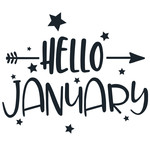 hello january arrow quote