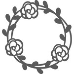 triple floral wreath