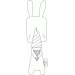 bunny with ice cream