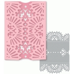 glorious ornate floral gatefold card