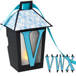 3d lantern banner with v-w-x