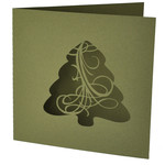 christmas tree flourish card