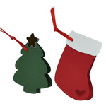 christmas tag set - stocking & tree