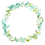 cute watercolor leaf wreath