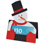 snowman gift card holder or placecard