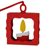 christmas candle hanging ornament box