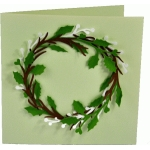 holly and berry wreath card