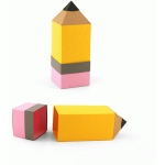 3d pencil shaped box with eraser lid