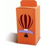 box with a hot air balloon